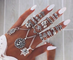jewelery, lace, and white image