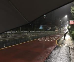 city, rain, and seoul image