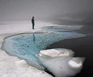 ice, nature, and landscape image