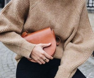 fall, fashion, and sweater image