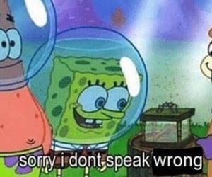 funny, spongebob squarepants, and meme image