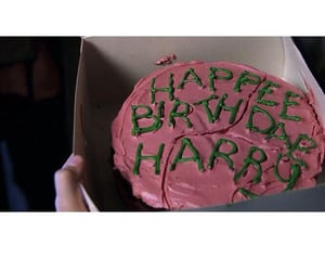cake, pink, and harry potter image