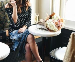 beautiful dress, fashion photography, and polka dot dress image