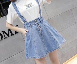 fashion, skirt, and jeans image