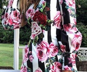 beautiful dress, fashion photography, and floral dress image