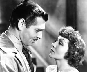 clark gable, 30's, and claudette colbert image