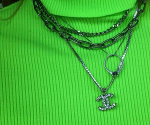 green, fashion, and necklace image