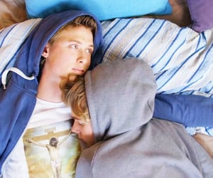 couple, cuddling, and hoodies image