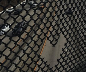 aesthetic, chain link fence, and dark image