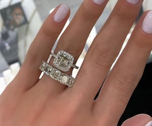 aesthetic, engagement, and jewelry image
