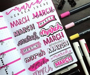 aesthetic, march, and notebook image