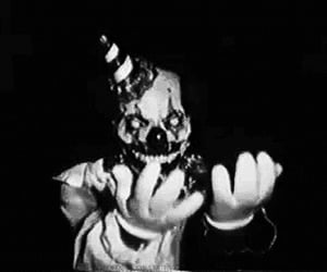 clown, horror, and black and white image