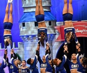 blue, cheerleader, and sport image