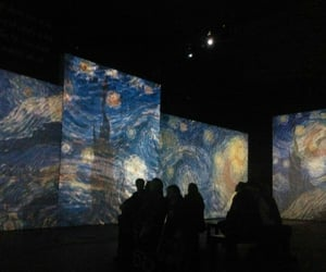 art, dark, and van gogh image