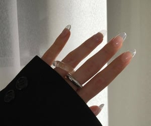 nails, aesthetic, and ring image