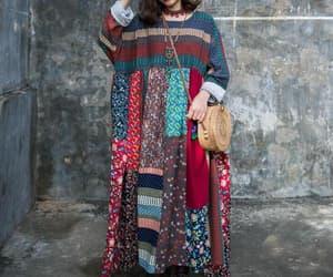 etsy, boho maxi dress, and pocket dress image