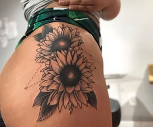 flowers, goals, and Tattoos image