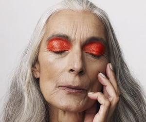 human, nails, and makeup image