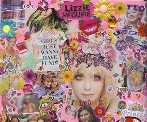 Collage, 90s, and pink image