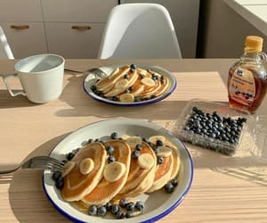 breakfast, banana, and blueberries image