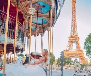 girl, torre eiffel, and france image