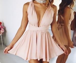 cocktail dress, model, and outfit image