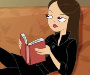book, cartoon, and girl image
