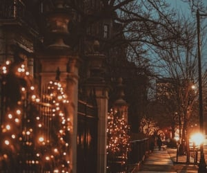 winter, light, and christmas image