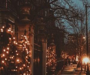 light, winter, and city image