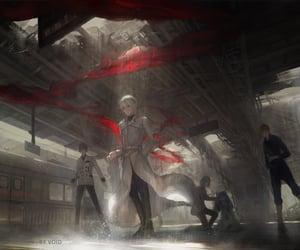 tokyo ghoul, raining, and kaneki ken image