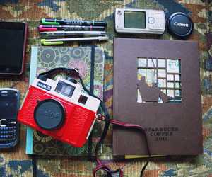 book, camara, and hipster image
