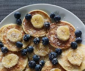 banana, blueberries, and breakfast image