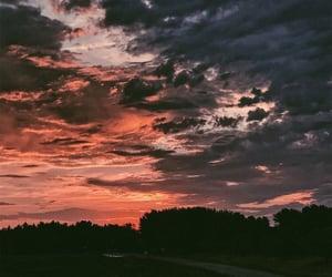 sky, sunrise, and sunset image
