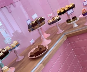 chocolate, pink, and cupcakes image