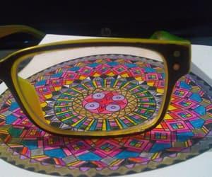 colors, mandala, and glass image
