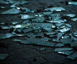 broken, ruins, and blue image