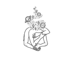 drawing, art, and love image