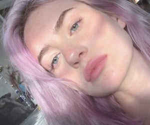 purple hair, youtuber, and kennedy walsh image