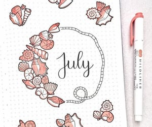 art, july, and bullet journal image