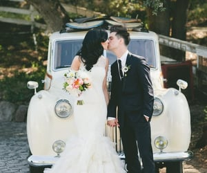 brendon urie, kiss, and marriage image