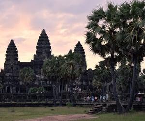 ancient, sunrise, and angkor wat image