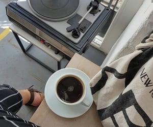 black, coffee, and fashion image