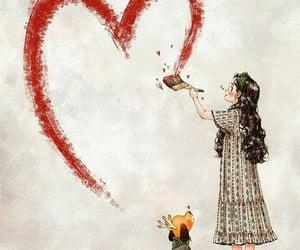 dog, girl, and heart image