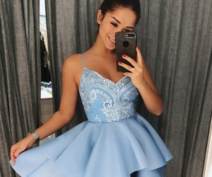 dresses, homecoming, and v neck prom dresses image
