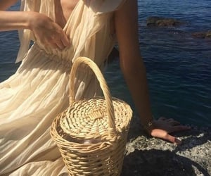 aesthetic, dress, and sea image