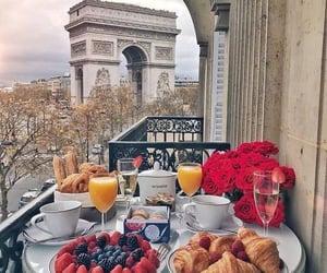 breakfast, paris, and food image