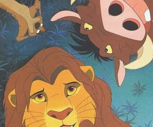 disney, simba, and timon image