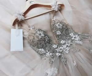 dress, fashion, and wedding dress image