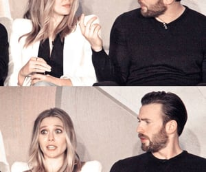 chris evans and elizabeth olsen image