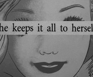 quotes, sad, and secret image